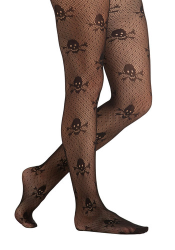 Ahead of Step Tights - Black, Steampunk, Better, Sheer, Novelty Print, Urban, Fall, Halloween