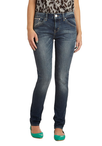 Stylish Songbird Jeans by Levi's - Denim, Cotton, Blue, Solid, Pockets, Casual, Skinny, Basic, Fall