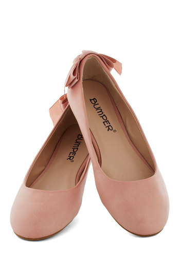 Ballet of the Land Flat - Flat, Faux Leather, Good, Pink, Solid, Bows, Casual, Fairytale, Pastel