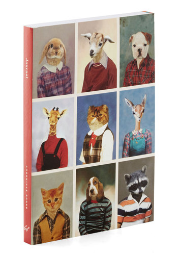 Heads or Tails Journal by Chronicle Books - Print with Animals, Good