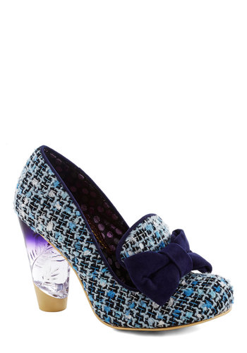 Always Play Flair Heel by Irregular Choice - International Designer, High, Blue, Multi, Bows, Statement, Best, Print, Woven, Work, Daytime Party, Scholastic/Collegiate, Quirky