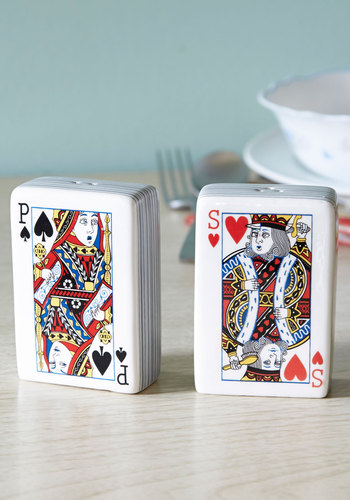 Spice Up the Ante Shaker Set by One Hundred 80 Degrees - Multi, Quirky, Red, Black, White, Novelty Print, Good