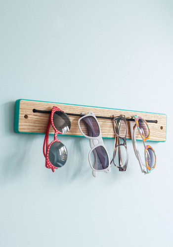 Try Every Dangle Rack - Blue, Dorm Decor, Colorblocking, Minimal, Tan / Cream, Better