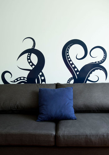 Perfect Ten-tickles Wall Decal - Blue, Nautical, Print with Animals, Quirky, Better, Halloween