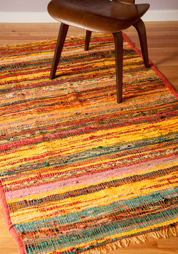You're Sprawl Invited Rug - 3x5 by Karma Living - Multi, Boho, Dorm Decor, Woven, Folk Art
