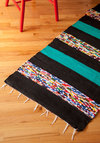 Hall I Ever Wanted Rug in Black - 4.75x2.25 - Multi, Stripes, Boho, Dorm Decor, Blue, Black, Cotton, Better, Woven