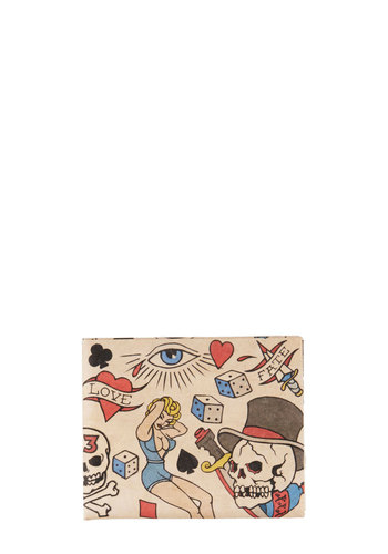 Modsters, Ink Wallet - Multi, Novelty Print, Rockabilly, Pinup, Vintage Inspired, Eco-Friendly