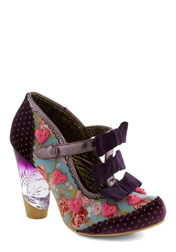 Delightfully You Heel by Irregular Choice - Polka Dots, Floral, Bows, Scallops, Trim, International Designer, High, Leather, Best, Multi, Party, Statement, Quirky