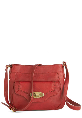 Always at the Red-y Bag by Nica - Red, Solid, International Designer, Faux Leather, Fall