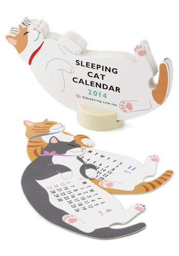 Year of the Critter 2014 Calendar in Sleepy Cat - Cats, Multi, Good, Dorm Decor, Scholastic/Collegiate, Print with Animals, Critters