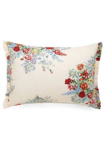 Memories Made Anew Pillowcase - Cotton, Multi, Floral, Vintage Inspired, Tan / Cream, Dorm Decor, Woven, French / Victorian
