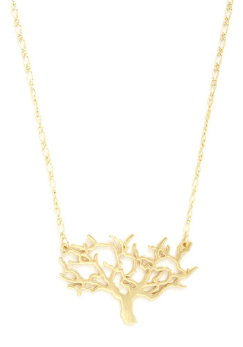 Twisting Tree Necklace - Silver, Gold, Chain, Casual, Variation, Best Seller, Silver, Gold, Fairytale, Rustic