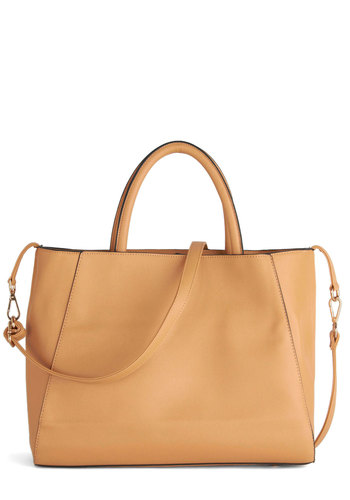 Ceramic My Day Bag - Tan, Solid, Work, Minimal, Faux Leather