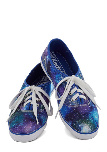 Rocket and Roll Sneaker by Keds - Blue, Purple, White, Print, Quirky, Flat, Better, Statement