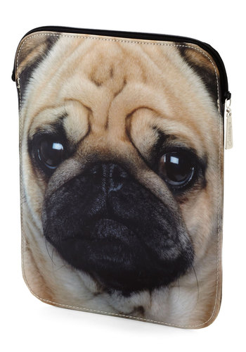 Tech Teacher's Pet Tablet Case in Pug - Tan, Print with Animals, Travel, Multi, Quirky, Variation