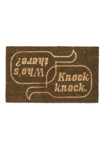 Home Is Where the Humor Is Doormat - Quirky, Brown, Tan / Cream, Better