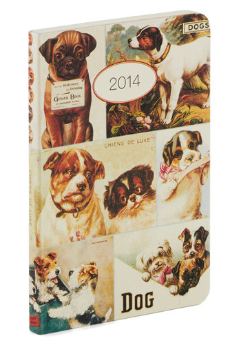 Plan's Best Friend Weekly Planner in Chien by Cavallini & Co. - Multi, Multi, Print with Animals, Good