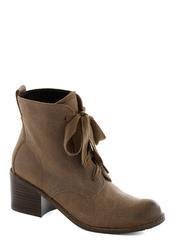 Graham Cracker Crumble Boot in Tan by Dolce Vita - Tan, Steampunk, Mid, Suede, Best, Lace Up, Chunky heel, Leather, Solid, Casual, Rustic, Fall