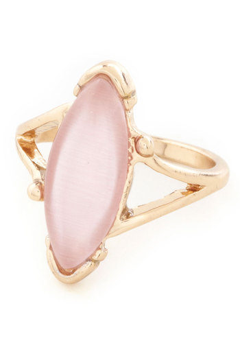 All You Can Luster Ring - Pink, Gold, Solid, Cutout, Wedding, Party, Cocktail, Pastel, Special Occasion