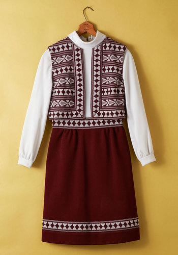Vintage Dulcimer Tones Dress