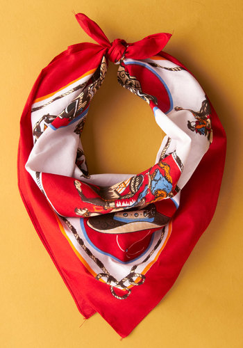 Vintage Round Up the Gals Scarf