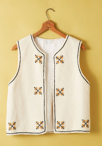 Vintage Space Needlepoint Vest