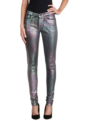 Casual Friday and Night Jeans in Psychedelic by Levi's - Denim, Multi, Pockets, Luxe, Statement, Skinny, Party, Girls Night Out, Urban, Variation