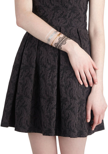 Lacy Fashion Tattoos by Chronicle Books - Multi, Print, Bows, Lace, Better, Glitter, Halloween