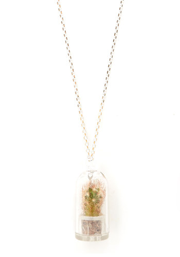 BRV NO REPS: It's Alive! Necklace - Green, Multi, Floral