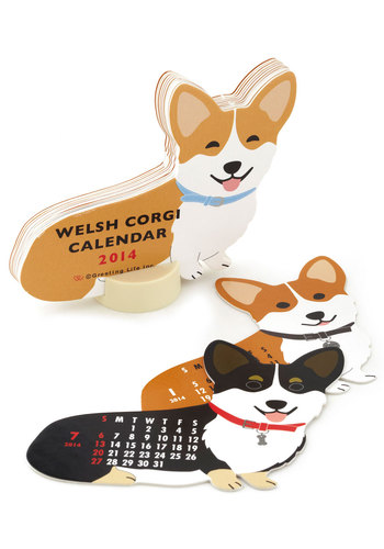 Year of the Critter 2014 Calendar in Corgi - Multi, Print with Animals, Top Rated