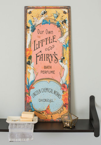Fairy Home Companion Sign - Multi, French / Victorian, Yellow, Blue, Coral, Fairytale, Pastel, Better