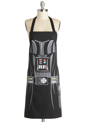 Darth Baker Apron - Cotton, Woven, Black, Grey, Novelty Print, Quirky, Good, Halloween, Sci-fi, Top Rated, 4th of July Sale