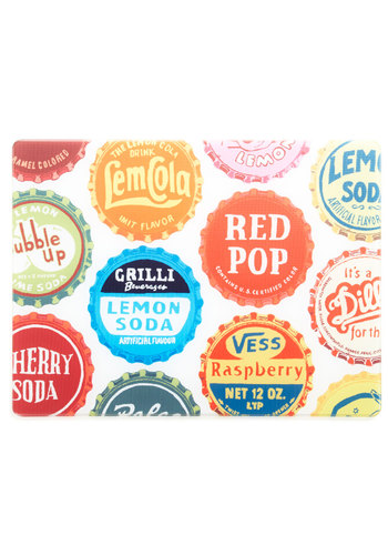 Soda They Say Cutting Board - Multi, Novelty Print, Vintage Inspired, Good
