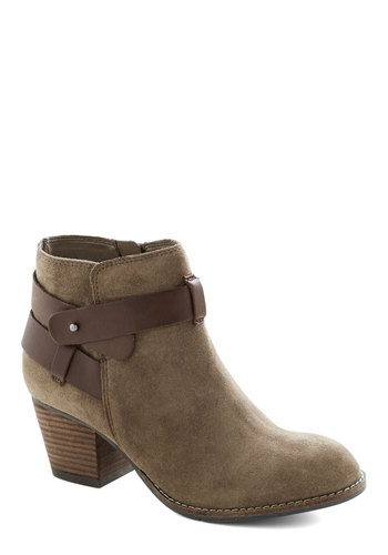 Stirrup Some Style Bootie by Dolce Vita - Tan, Brown, Mid, Better, Chunky heel, Solid, Casual, Rustic, Leather