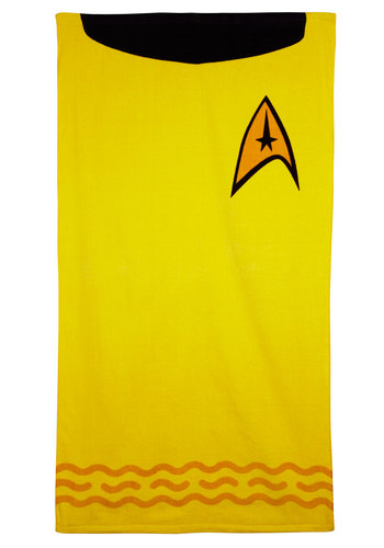 Eye on the Enterprise Towel - Cotton, Yellow, Orange, Black, Novelty Print, Dorm Decor, Good