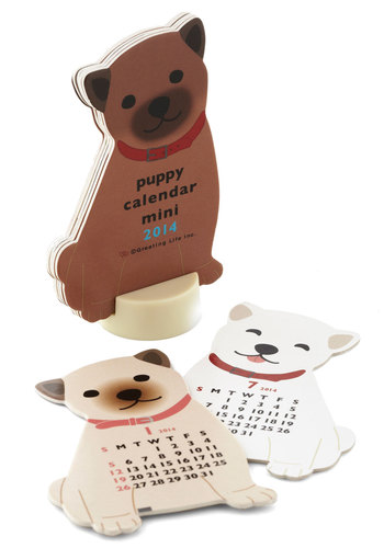 Year of the Critter 2014 Calendar in Puppy - Multi, Kawaii, Good, Print with Animals