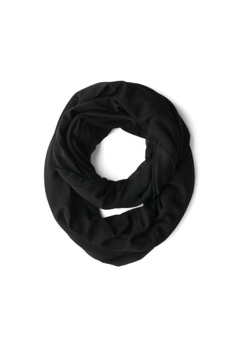 Come Full Circle Scarf in Coal - Black, Solid, Minimal, Good, Variation, Basic, Cotton, Sheer, Knit, Urban