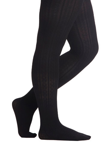 Liven Up Your Look Tights in Black - Plus Size by Look From London - Black, Solid, Sheer, Knit, Variation, Basic, Work, Winter