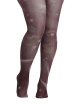 Intergalactic Odyssey Tights in Grey - Plus Size