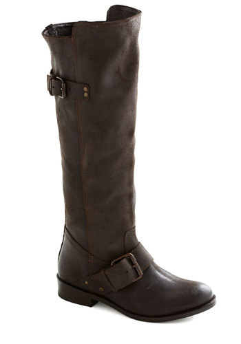 Coffee Bean Beauty Boot by Dolce Vita - Brown, Buckles, Steampunk, Low, Better, Leather, Solid, Casual, Fall