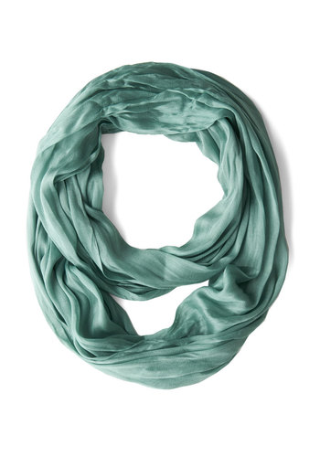 Brighten Up Circle Scarf in Seafoam - Green, Solid, Minimal, Good, Variation, Sheer, Woven, Basic, Winter, Top Rated
