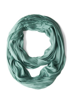 Brighten Up Circle Scarf in Seafoam