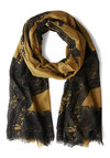 Paris with Everything Scarf - Yellow, Black, Best, French / Victorian, Woven, Novelty Print