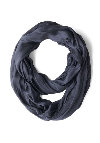 Brighten Up Circle Scarf in Deep Blue - Blue, Solid, Minimal, Good, Variation, Woven, Sheer, Basic, Top Rated, Fall, Winter, Under $20