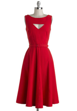 The Evening Unfolds Dress in Red