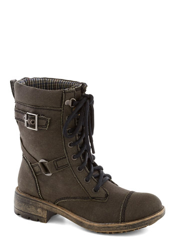 Outdoor Odyssey Boot - Green, Buckles, Military, Lace Up, Low, Faux Leather, Good, Solid, Casual, Menswear Inspired, Rustic, Top Rated