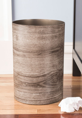 Catch My Driftwood Trash Can - Grey, Rustic, Good, Dorm Decor