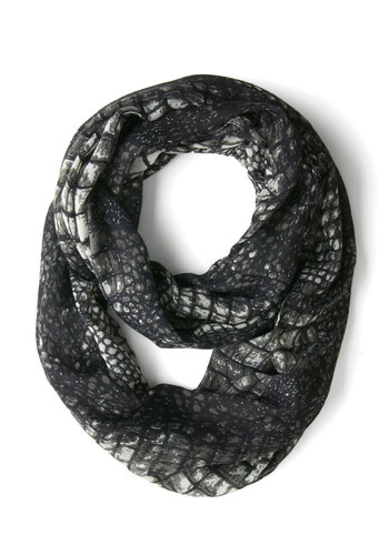 Later, Gator Scarf! - Black, White, Animal Print, Good, Woven, Urban