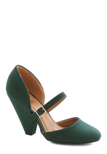 Everlasting Evergreen Heel - Green, Solid, Good, High, Party, Cocktail, Bridesmaid, Top Rated