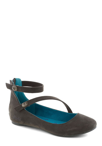 Modern Modesty Flat in Grey - Grey, Solid, Casual, Flat, Good, Variation